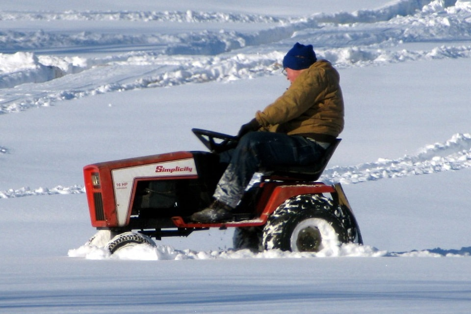 Lawn Tractor for Snow Removal