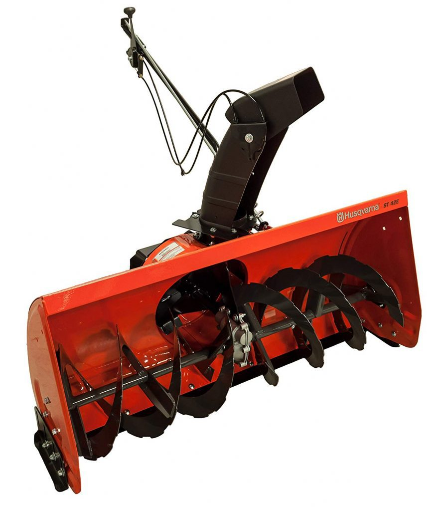 Husqvarna ST42E with Electric Lift snow thrower
