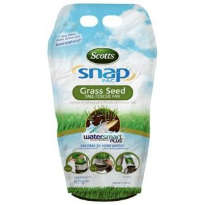 Scotts Snap Pac Grass Seed Tall Fescue Grass pack