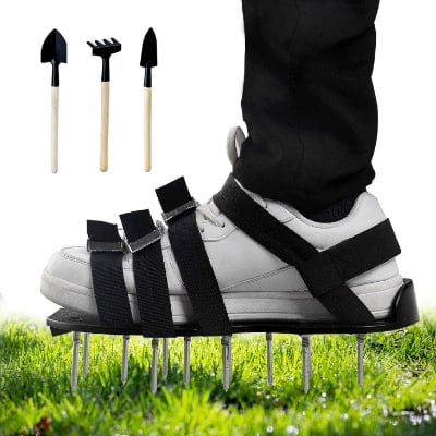 Mavicen Lawn Aerator Shoes with Zinc Alloy Buckles and 4 Adjustable Straps for Aerating Your Yard