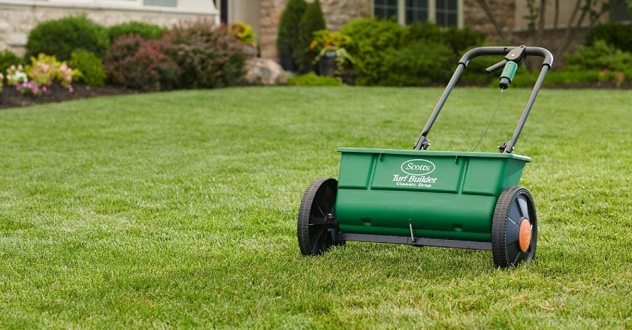 Scotts Turf Builder drop spreader